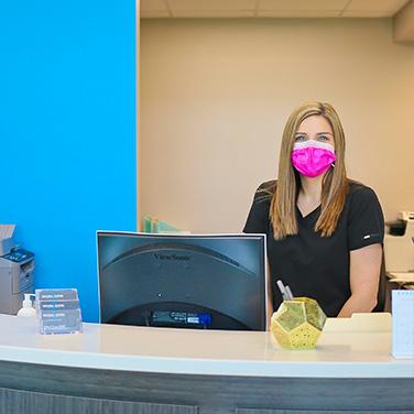 Singing River Dentistry image of front desk in Huntsville, AL